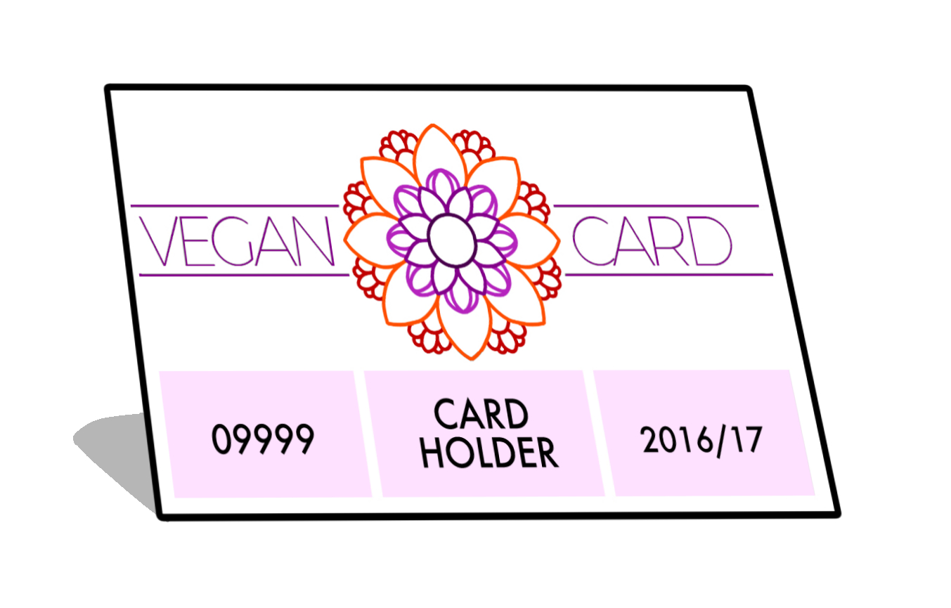 Vegan Card valid to June 30 2017